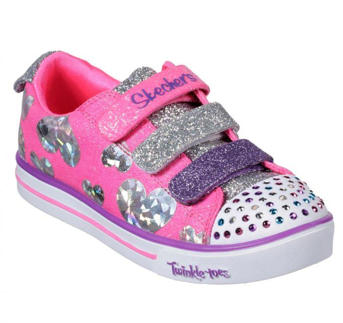 Clothing, Shoes & Accessories Light Up Girls Baby Toddler Glitter Strap Canvas Sneaker Tennis Shoe Pink Purple Baby Shoes