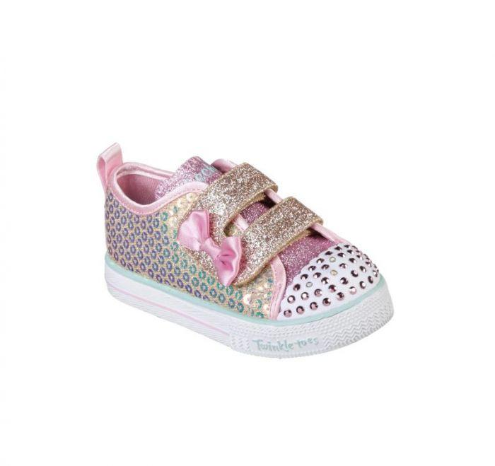 77c14c9472b1d Shop Skechers Infant Girls' Twinkle Toes: Shuffle Lite - Mini Mermaid  Silver Online | Skechers® Australia