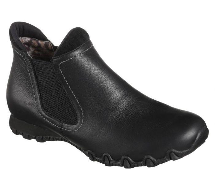 Skechers Womens Relaxed Fit Bikers Undergrad Leather Flat