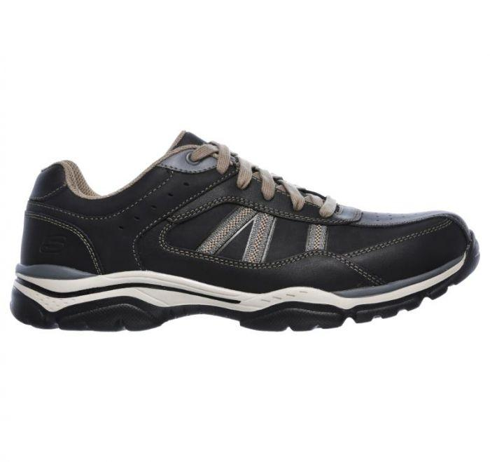 b327e7f31ef2f Shop Skechers Men's Relaxed Fit: Rovato - Texon Black Online | Skechers®  Australia