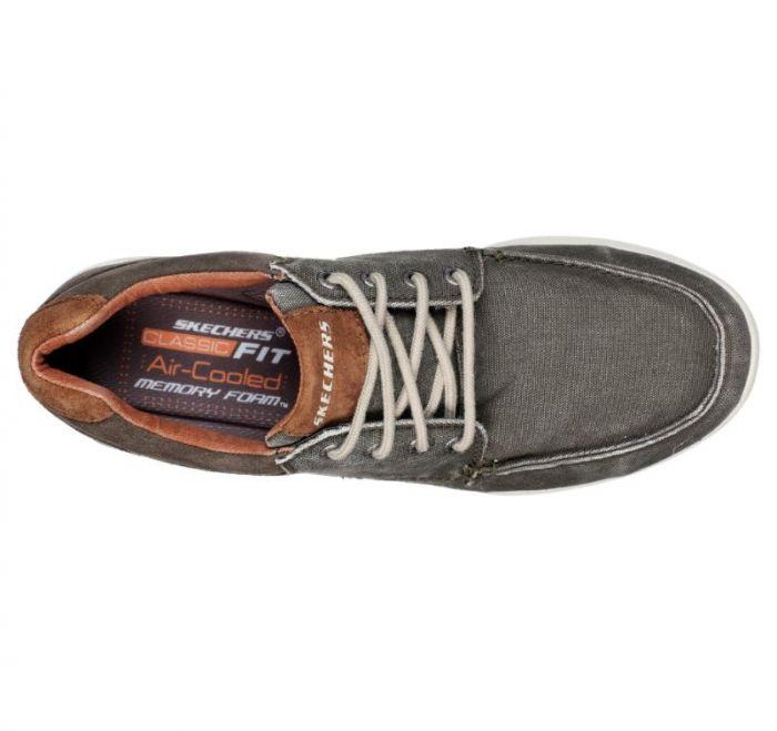 Shop Skechers Men's Relaxed Fit: Elent Arven Brown Online