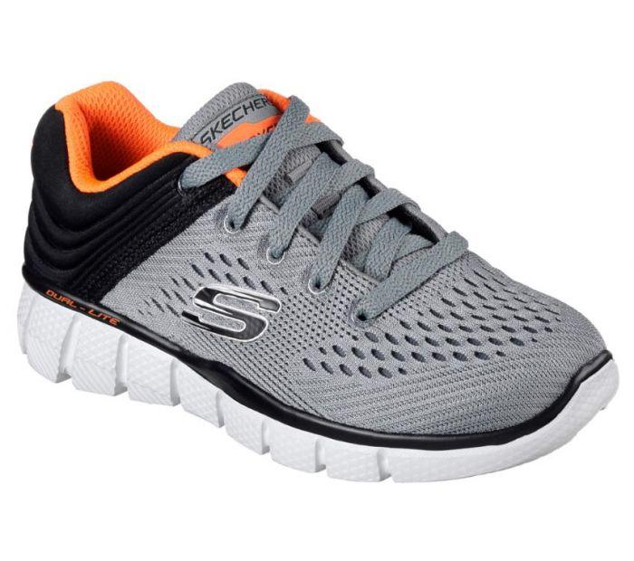 Skechers Youth Equalizer 2.0 Post Season Charcoal Mesh Trainers 6 UK blrWyWOghY